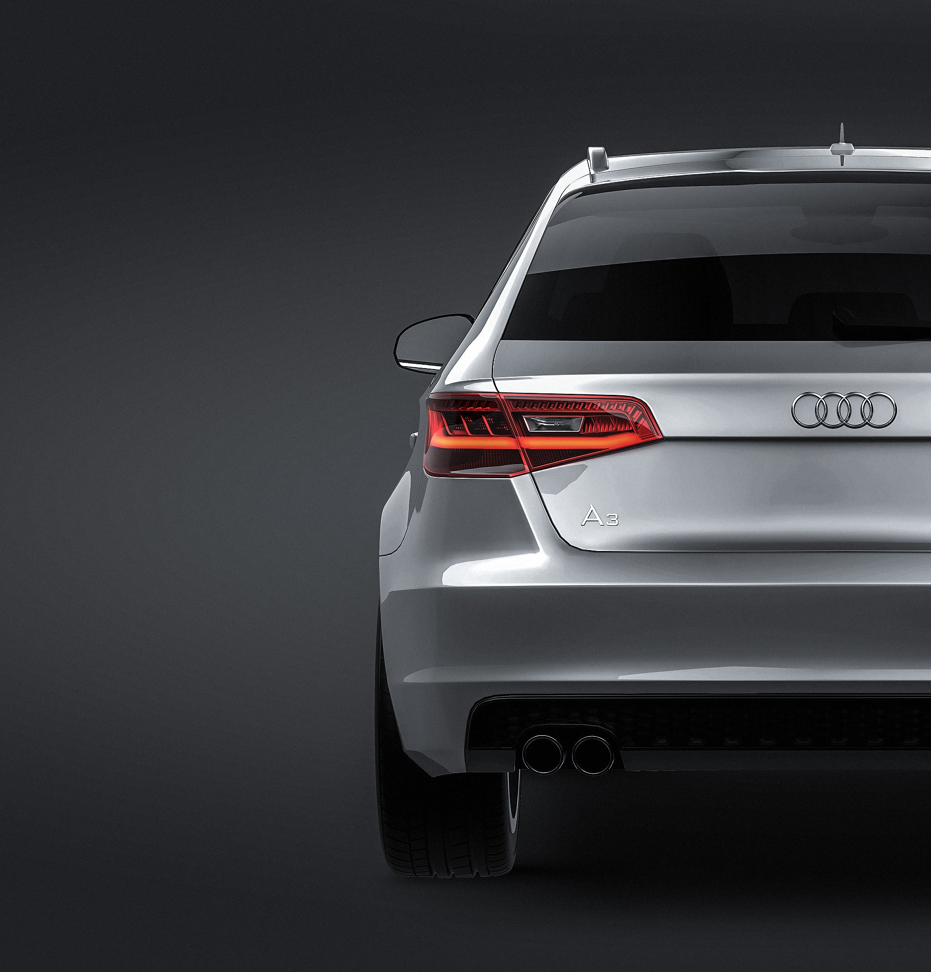 Audi A3 5-door 2014 S-line - all sides Car Mockup Template.psd