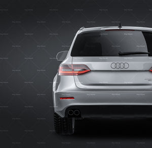 Audi A4 Allroad 2013 all sides Car Mockup Template.psd