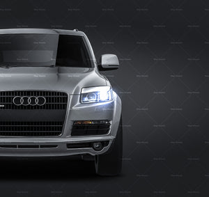 Audi Q7 2006 all sides Car Mockup Template.psd