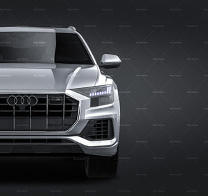 Audi Q8 2019 all sides Car Mockup Template.psd