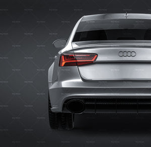 Audi RS6 Sedan 2015 - all sides Car Mockup Template.psd