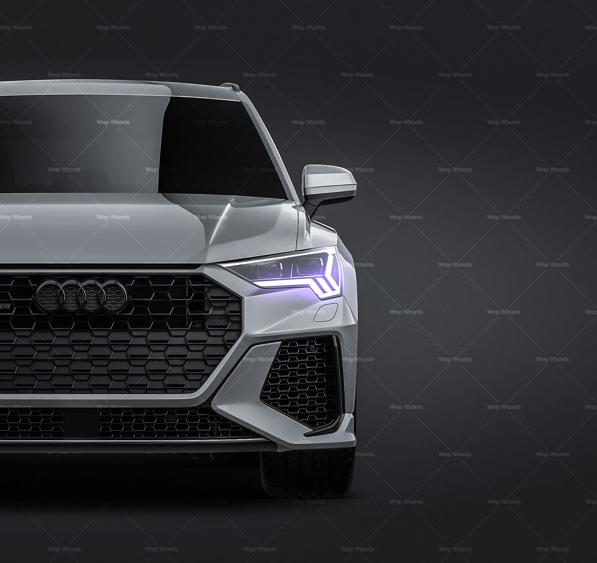 Audi RS Q3 2020 all sides Car Mockup Template.psd