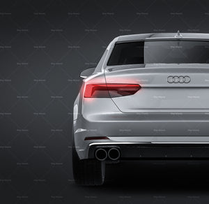 Audi S5 Coupe 2017 all sides Car Mockup Template.psd
