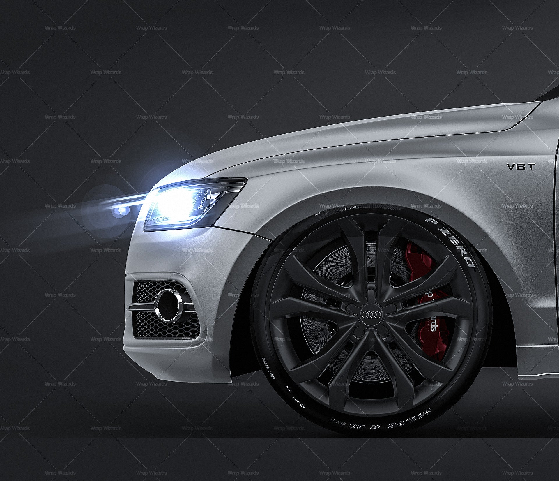 Audi SQ5 2013 all sides Car Mockup Template.psd