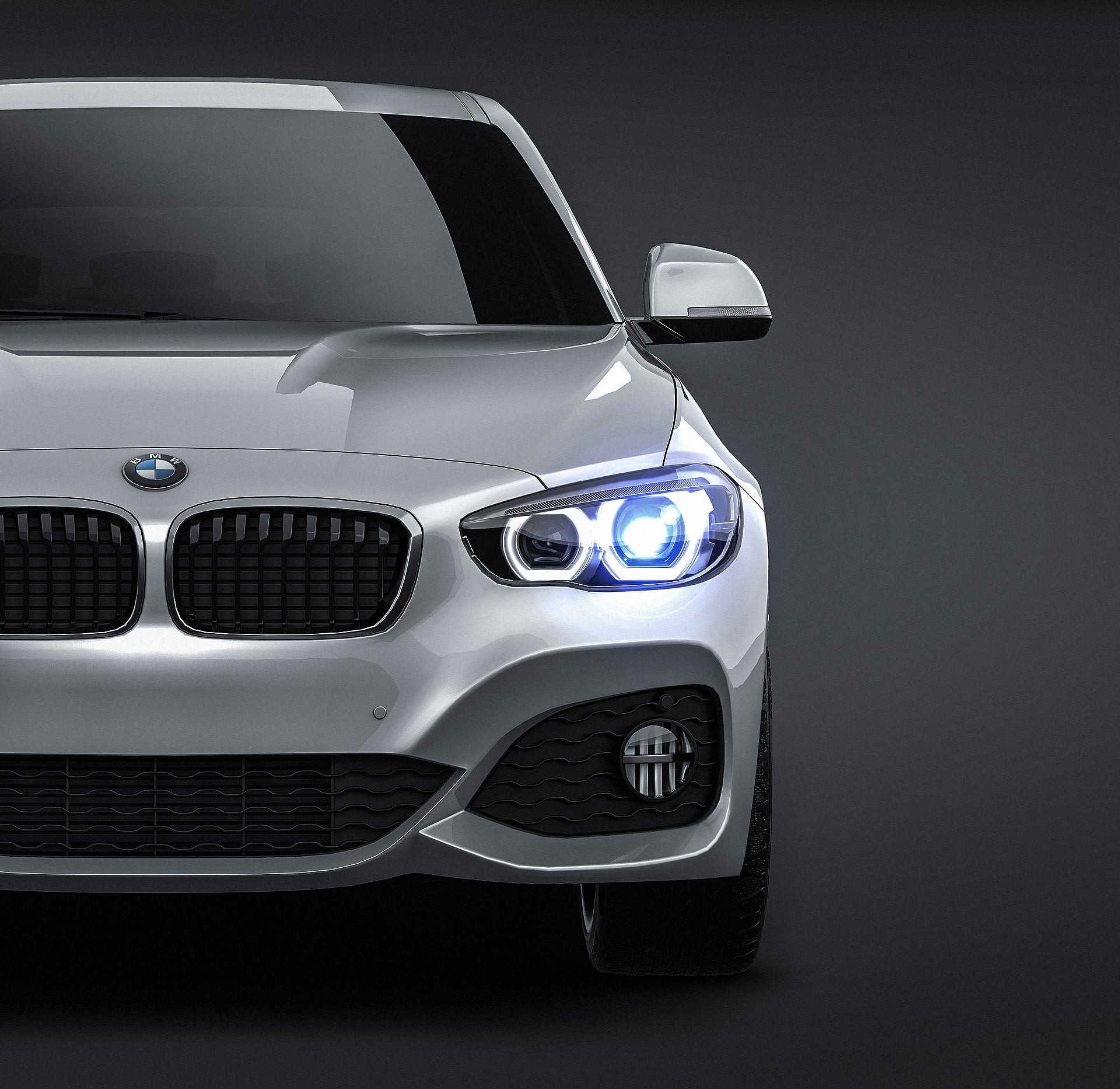BMW 1 Series F20 5-door 2016 - all sides Car Mockup Template.psd