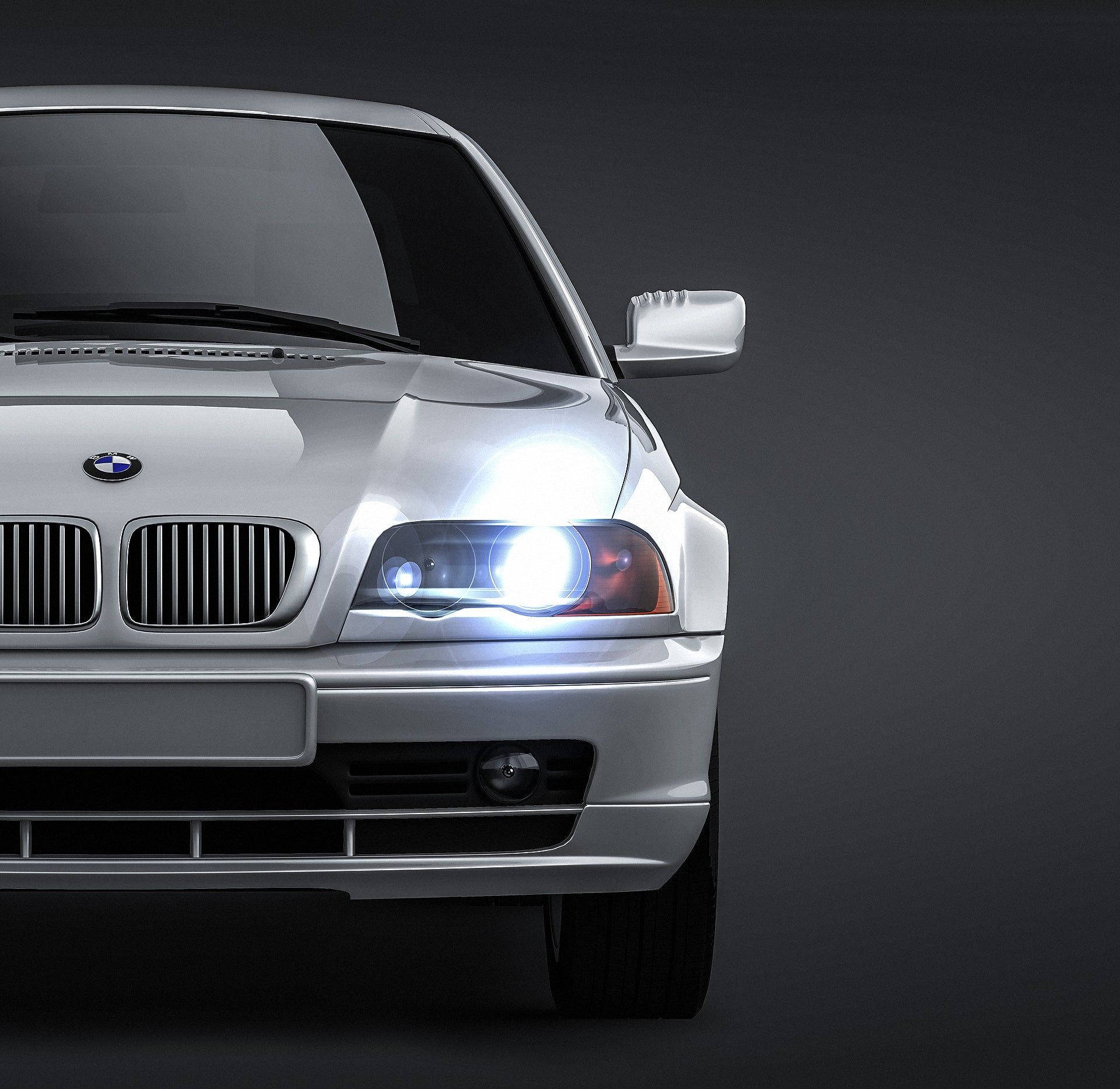 BMW 3 E46 coupe 2004 - all sides Car Mockup Template.psd