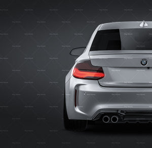BMW M2 Competition 2019 glossy finish - all sides Mockup Template.psd