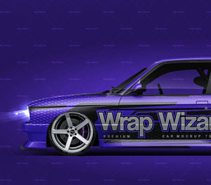 BMW M3 E30 Warsteiner - all sides Car Mockup Template.psd