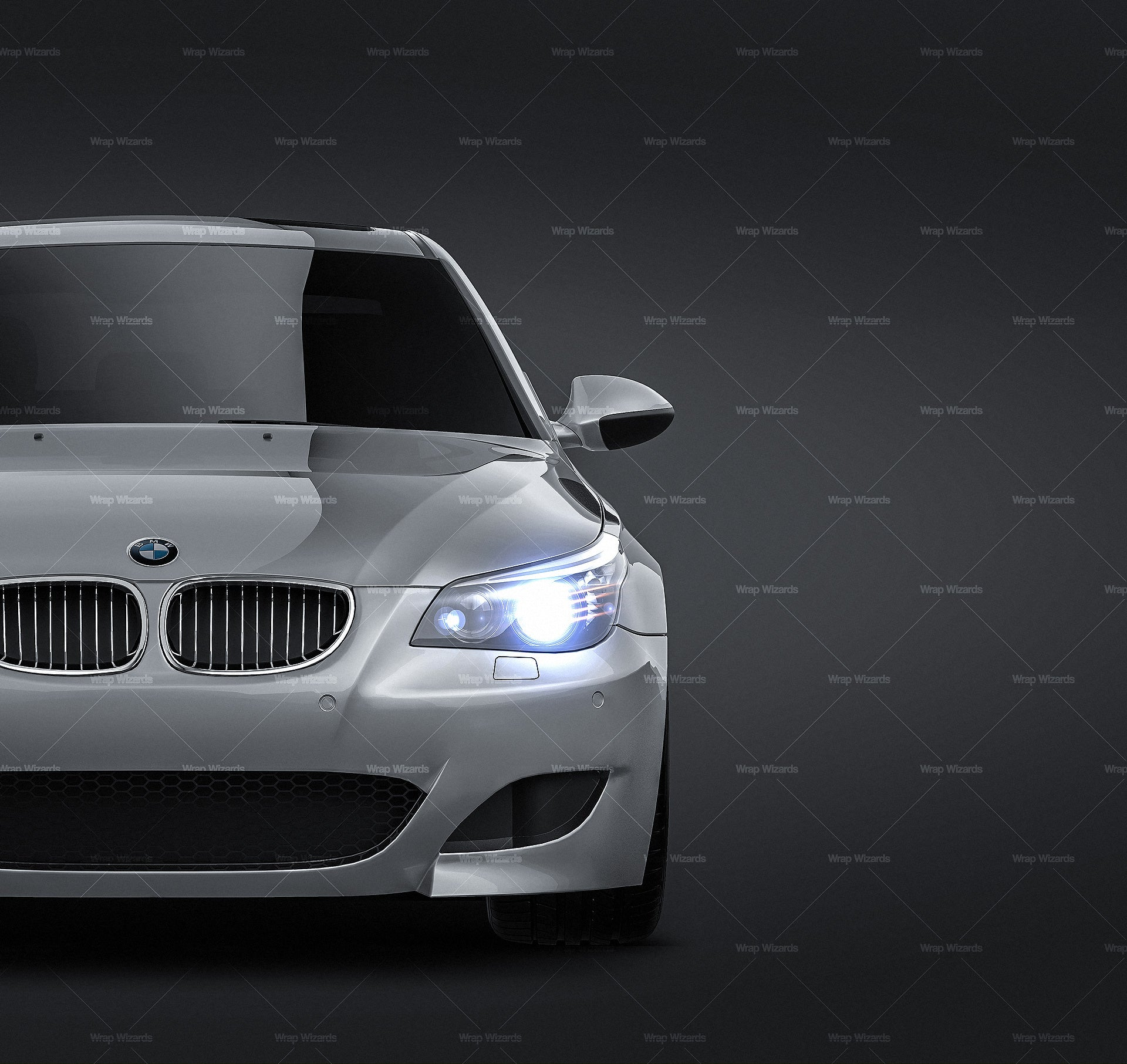 BMW M5 E60 2005-2010 all sides Car Mockup Template.psd