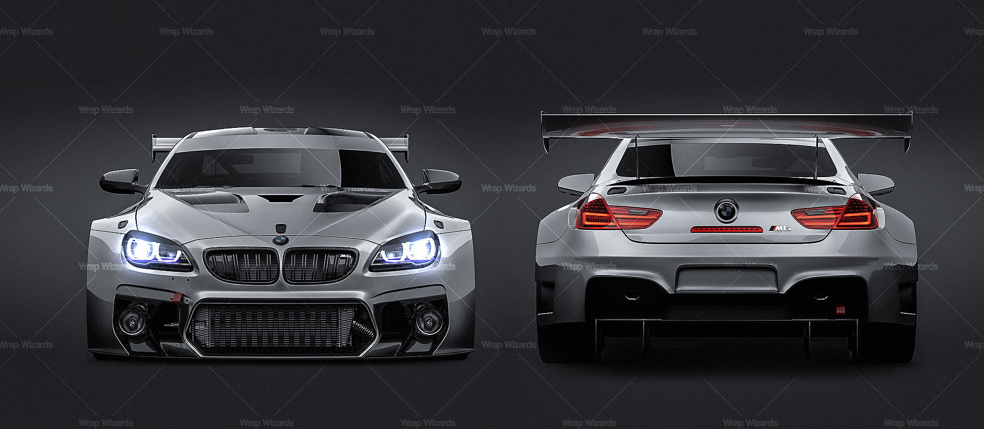 BMW M6 GT3 2016 - all sides Car Mockup Template.psd
