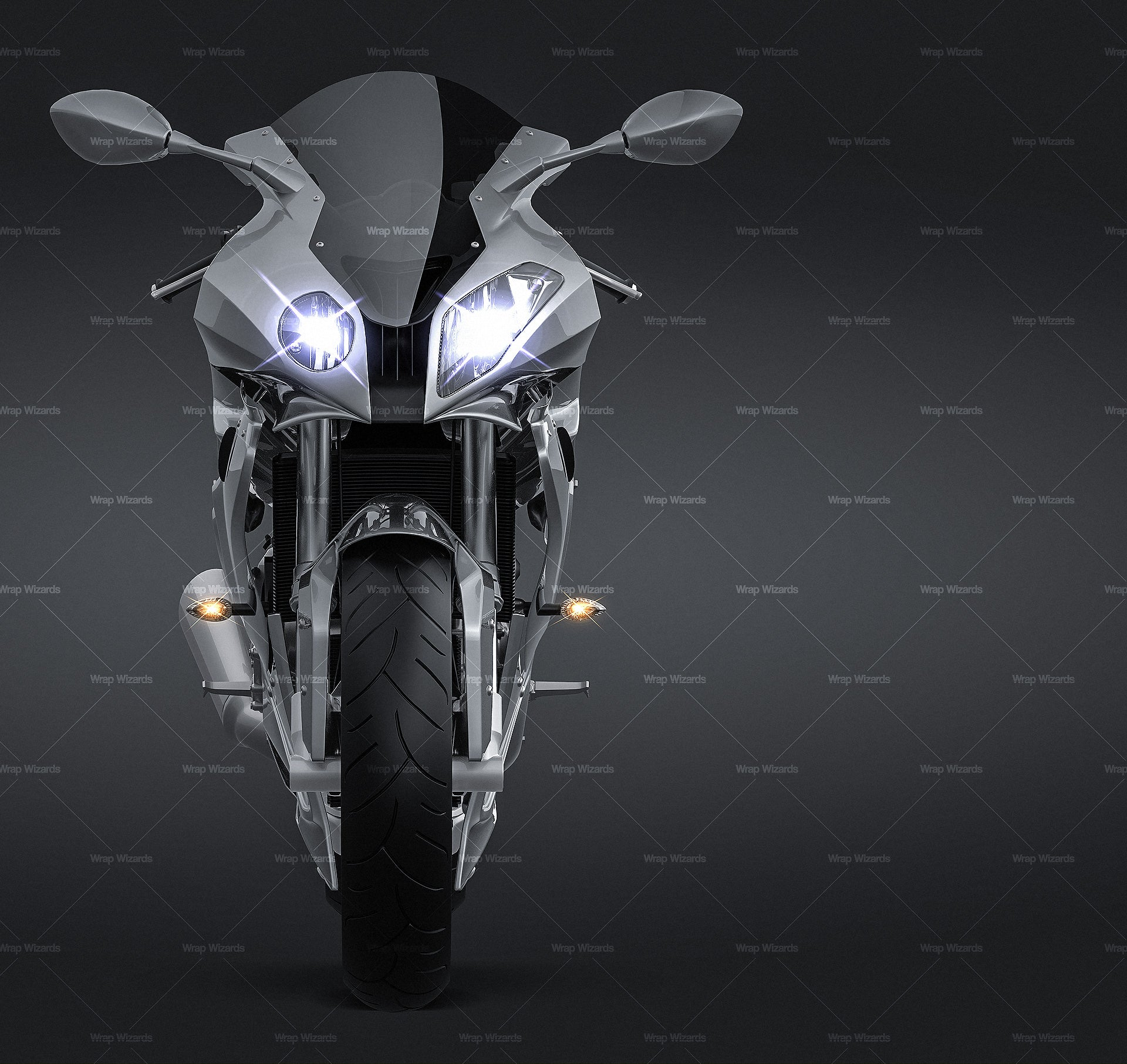 BMW S1000RR 2011 all sides Car Mockup Template.psd