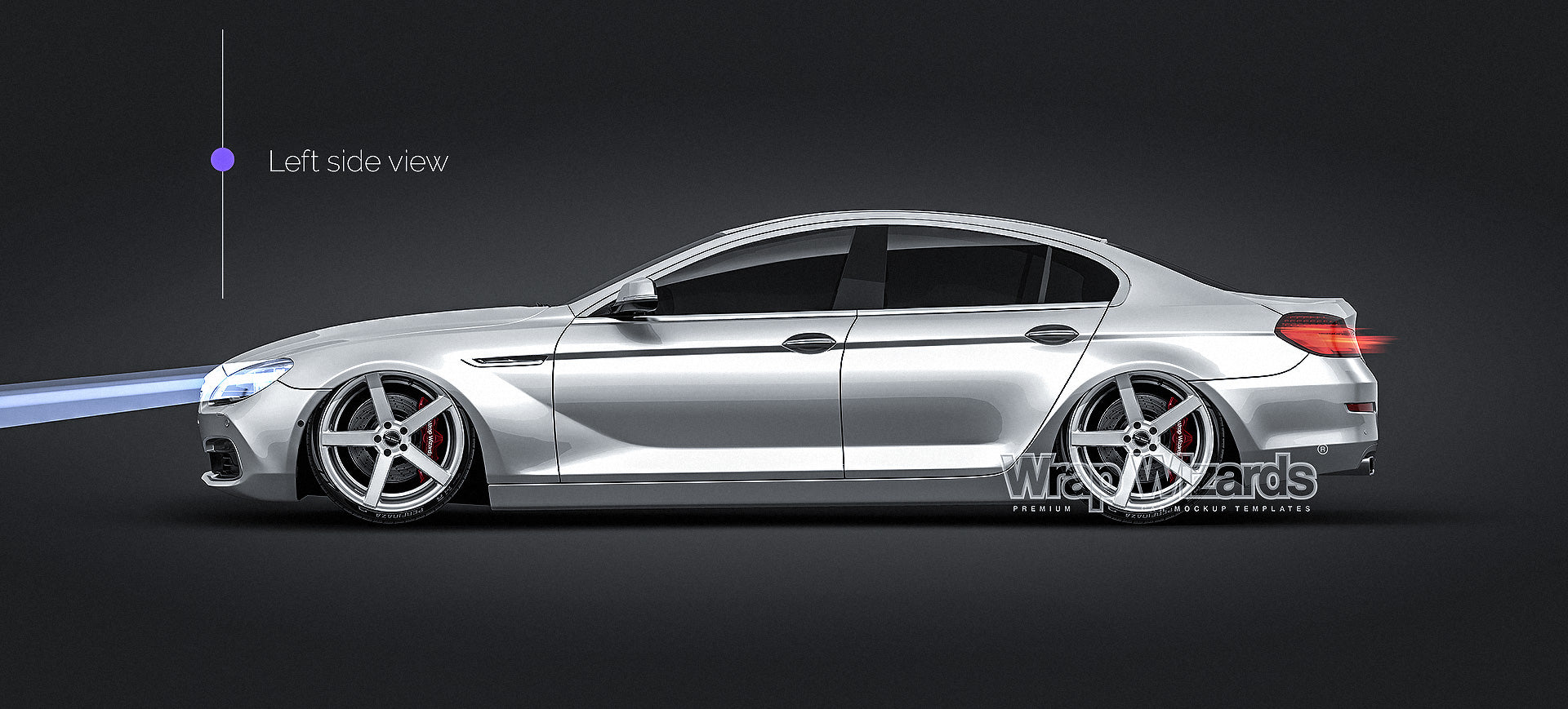 BMW 6-Series Gran Coupe 2015- all sides Car Mockup Template.psd