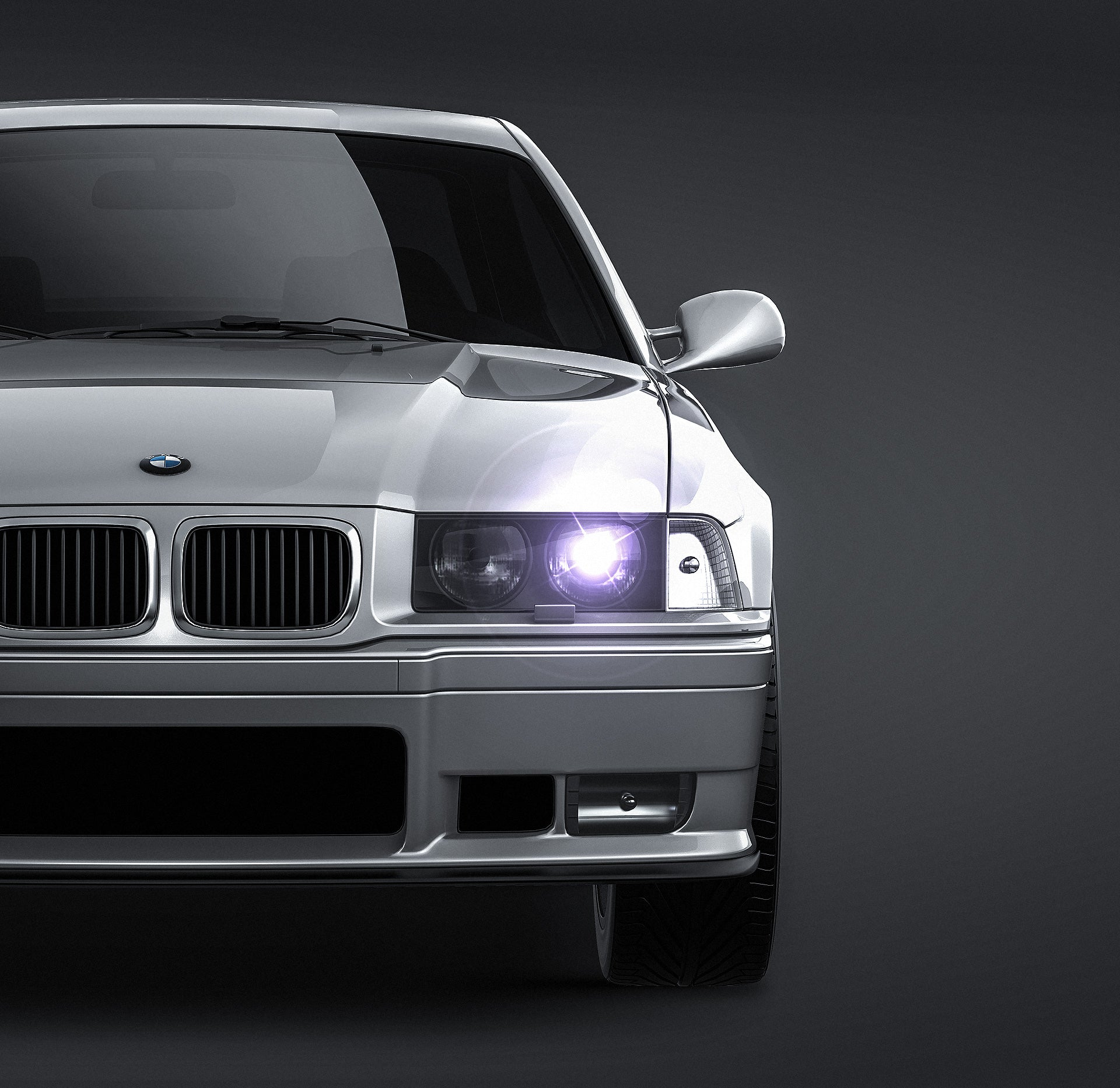 BMW E36 Coupe - all sides Car Mockup Template.psd