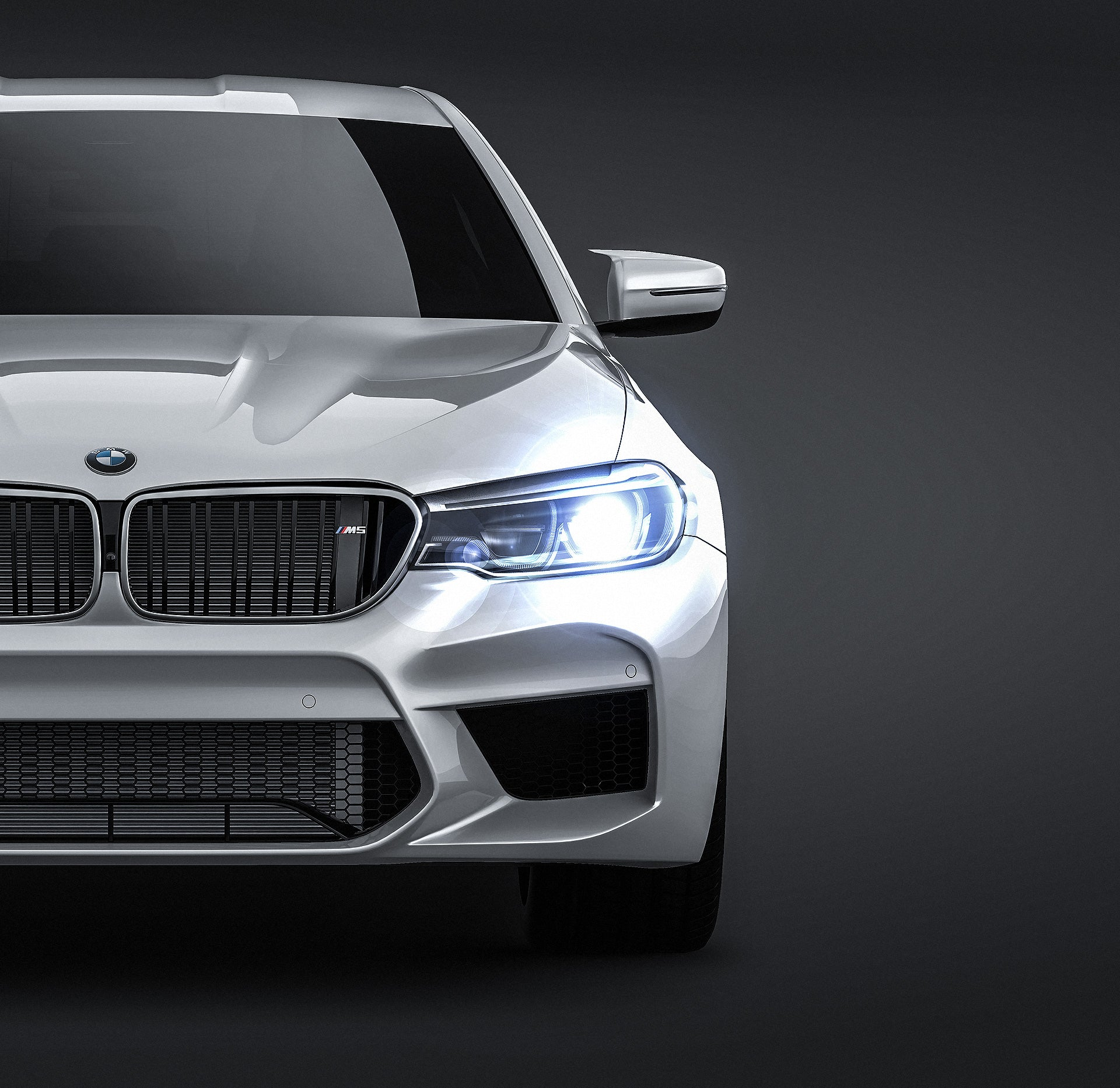BMW M5 F90 2018 - all sides Car Mockup Template.psd