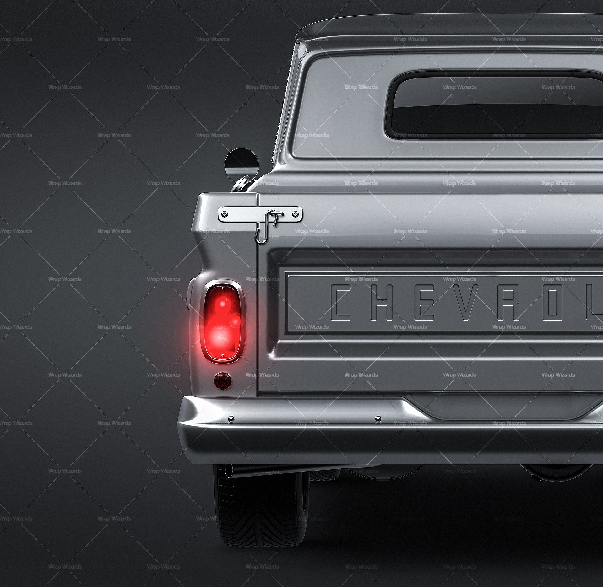 Chevrolet C10 1965 - all sides Car Mockup Template.psd