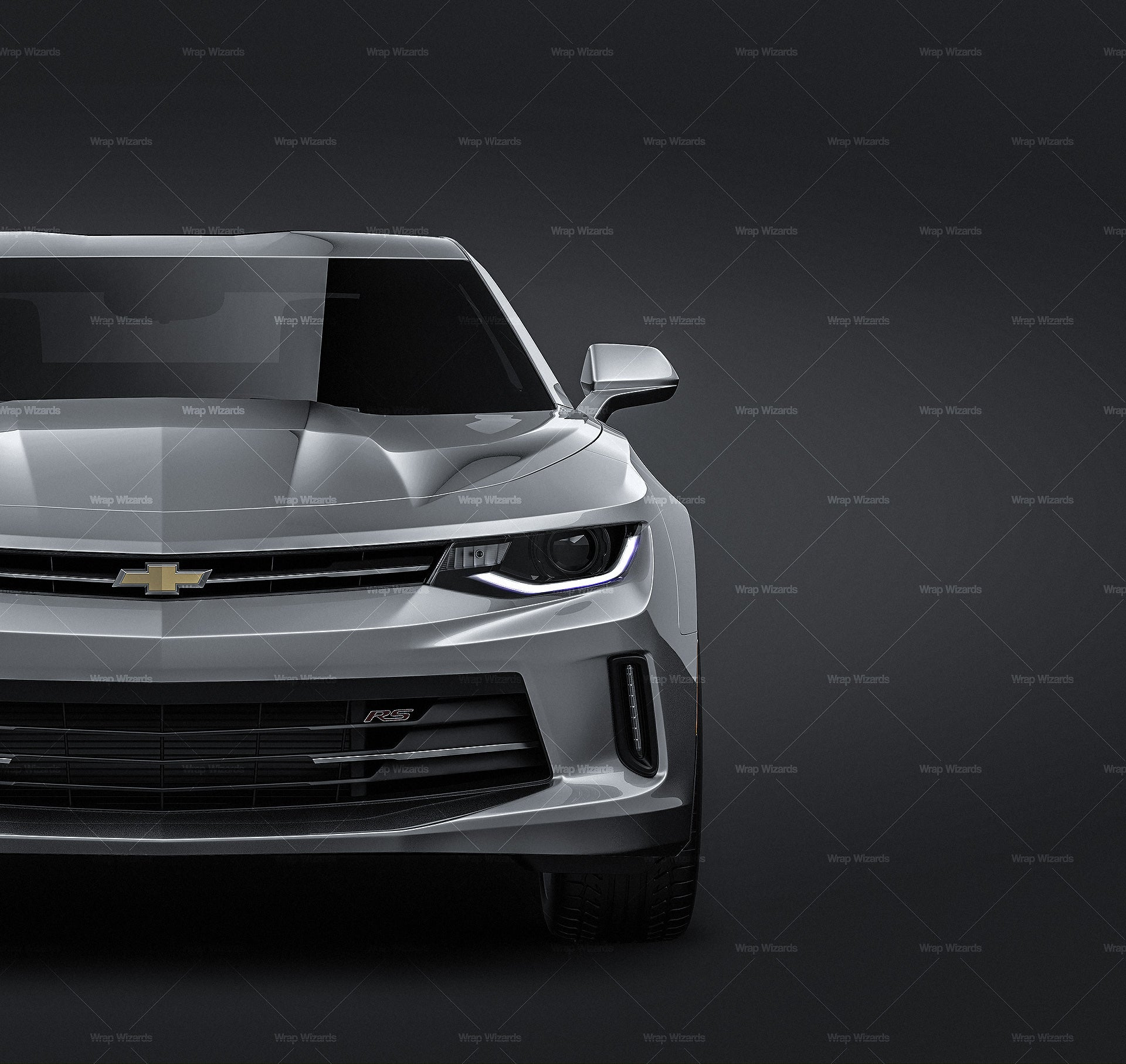 Chevrolet Camaro 2016 all sides Car Mockup Template.psd