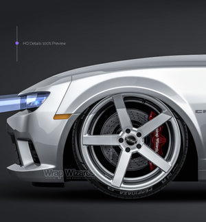 Chevrolet Camaro SS Convertible 2014 all sides Car Mockup Template.psd