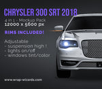 Chrysler 300 SRT 2018 all sides Car Mockup Template.psd