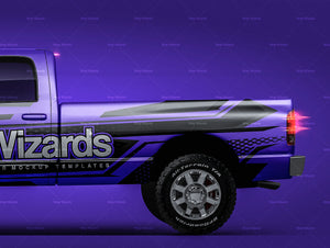 Dodge RAM 1500 Quad Cab 160-inch Box Laramie 2007 all sides car mockup template.psd