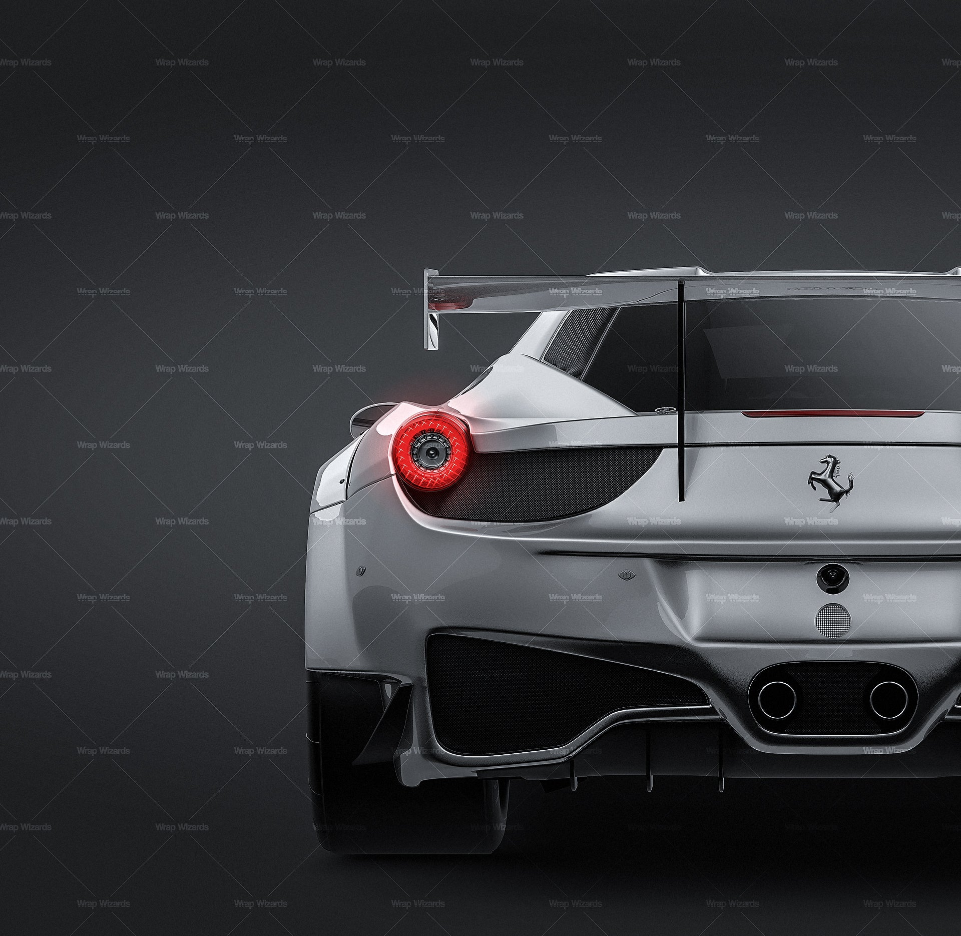 Ferrari 458 GT3 2014 glossy finish - all sides Car Mockup Template.psd