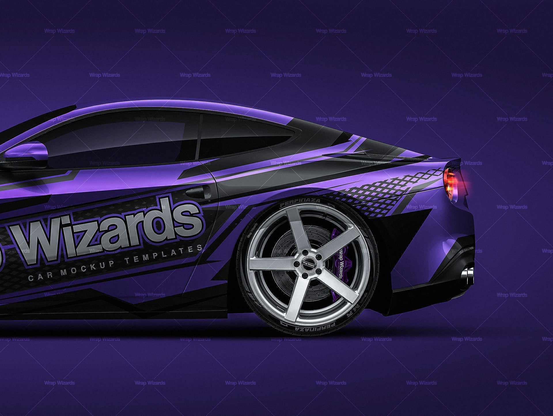 Ferrari F12 2015 - all sides Car Mockup Template.psd