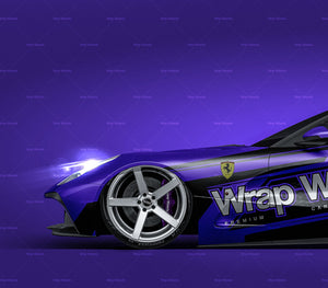Ferrari F12 TRS Roadster 2015 all sides Car Mockup Template.psd