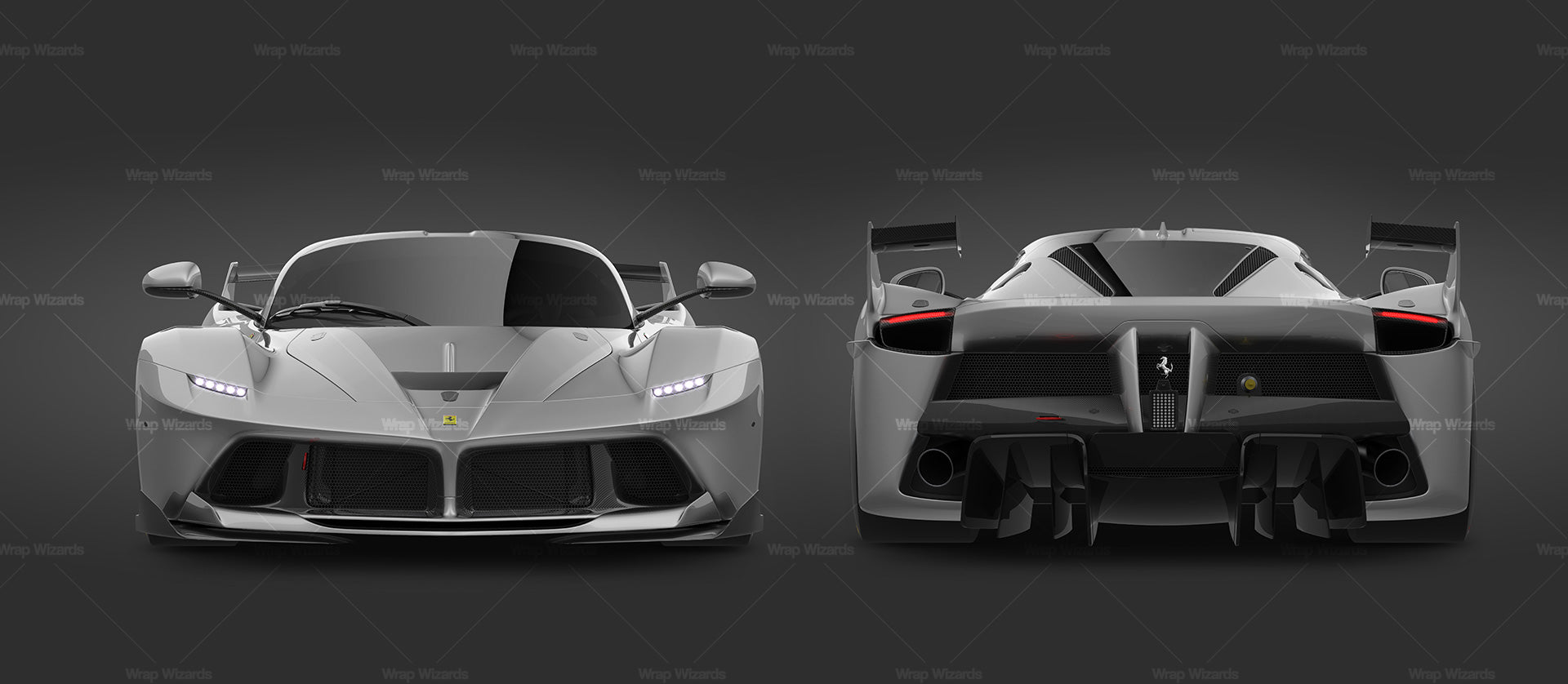 Ferrari FXX K glossy finish - all sides Car Mockup Template.psd
