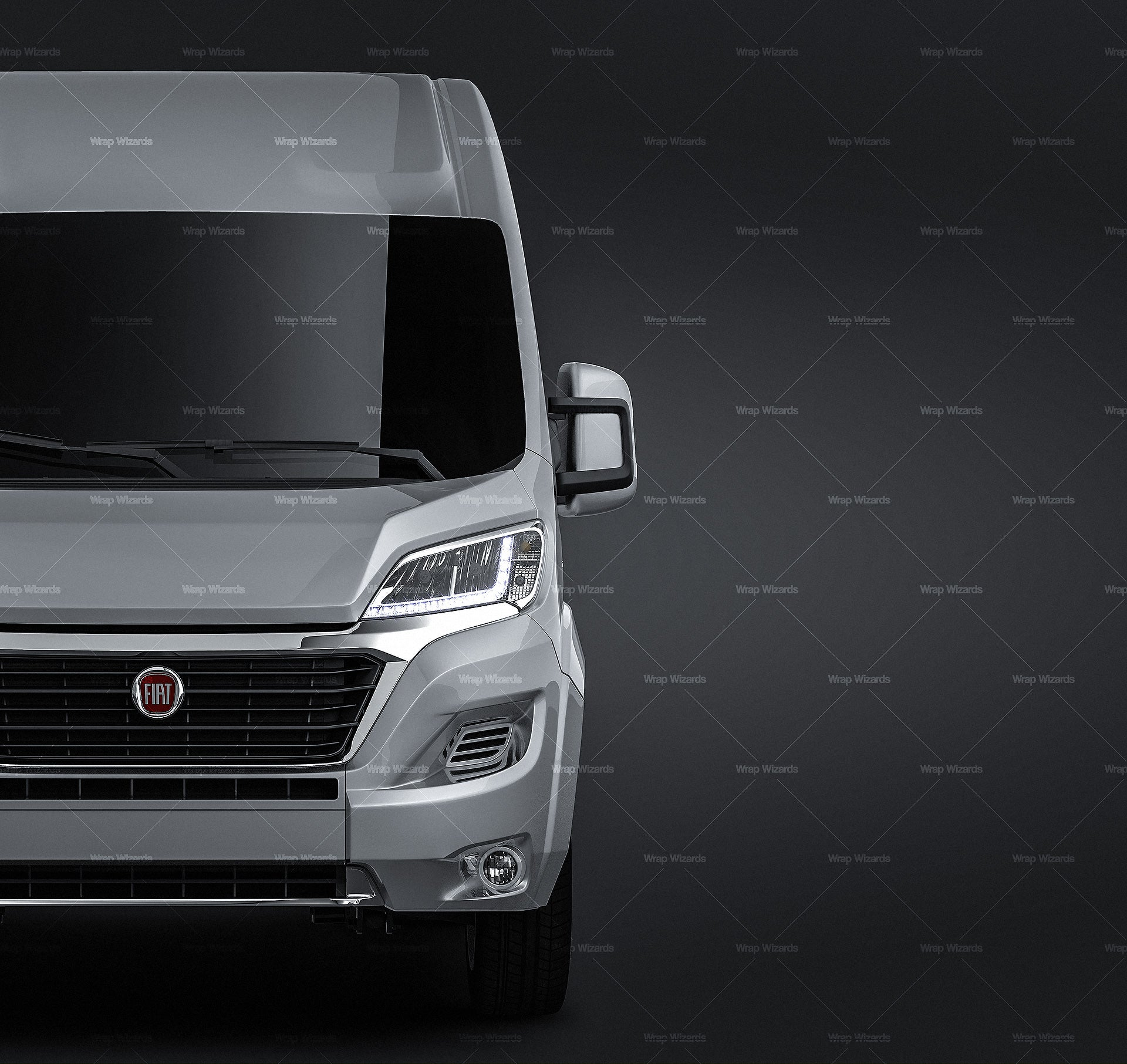 Fiat Ducato 2020 all sides Car Mockup Template.psd