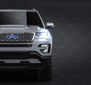 Ford Explorer 2016 all sides Car Mockup Template.psd