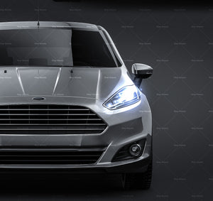 Ford Fiesta 3door 2013 - all sides Car Mockup Template.psd