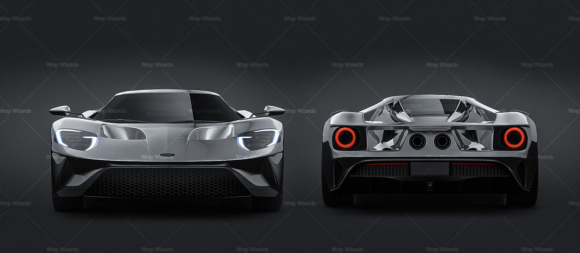 Ford GT 2017 all sides Car Mockup Template.psd