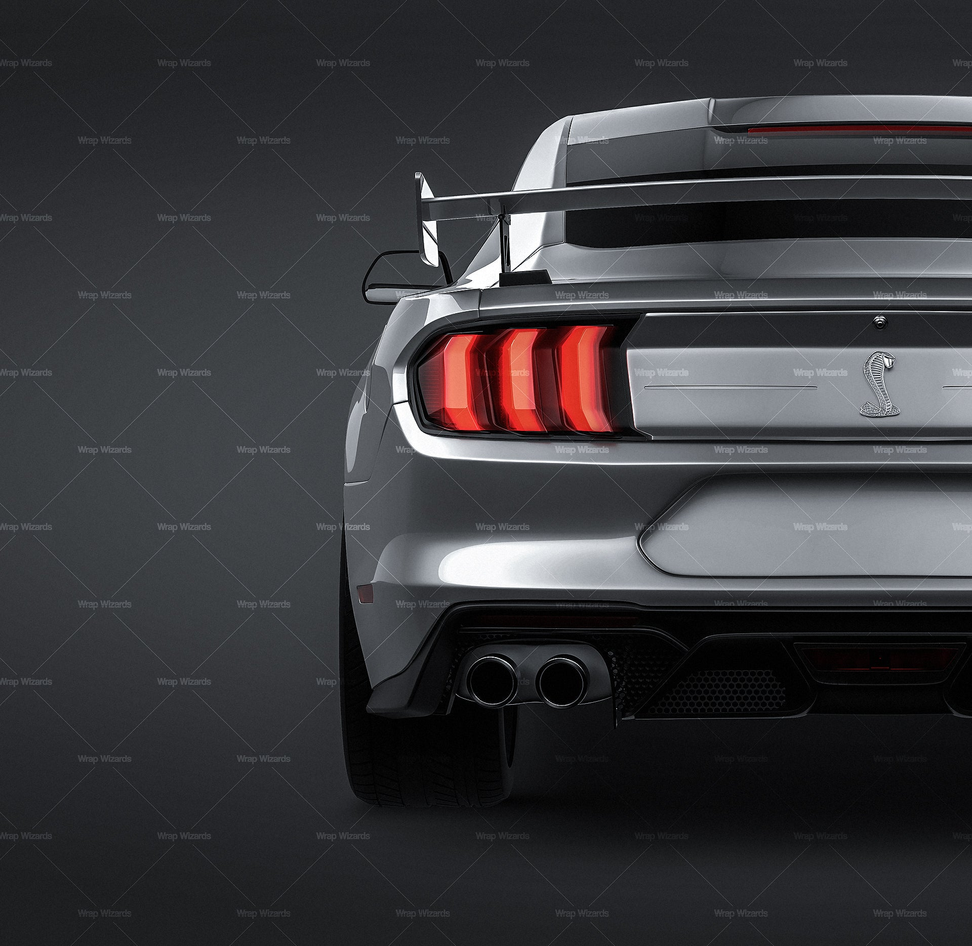 Ford Mustang Shelby GT500 2020 - all sides Car Mockup Template.psd