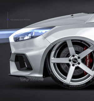 Ford Focus RS 2016 - all sides Car Mockup Template.psd