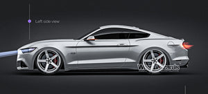 Ford Mustang GT 2015 glossy finish - all sides Car Mockup Template.psd