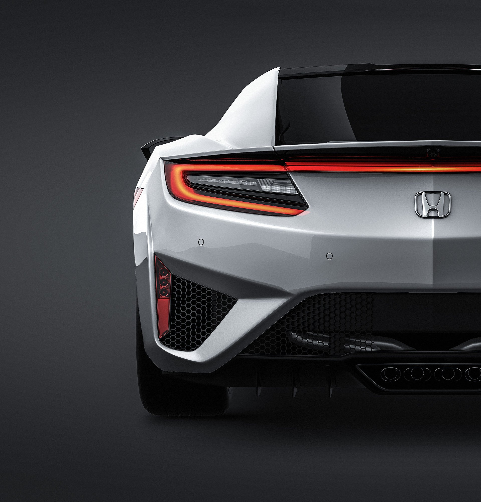 Honda NSX 2016 glossy finish - all sides Car Mockup Template.psd