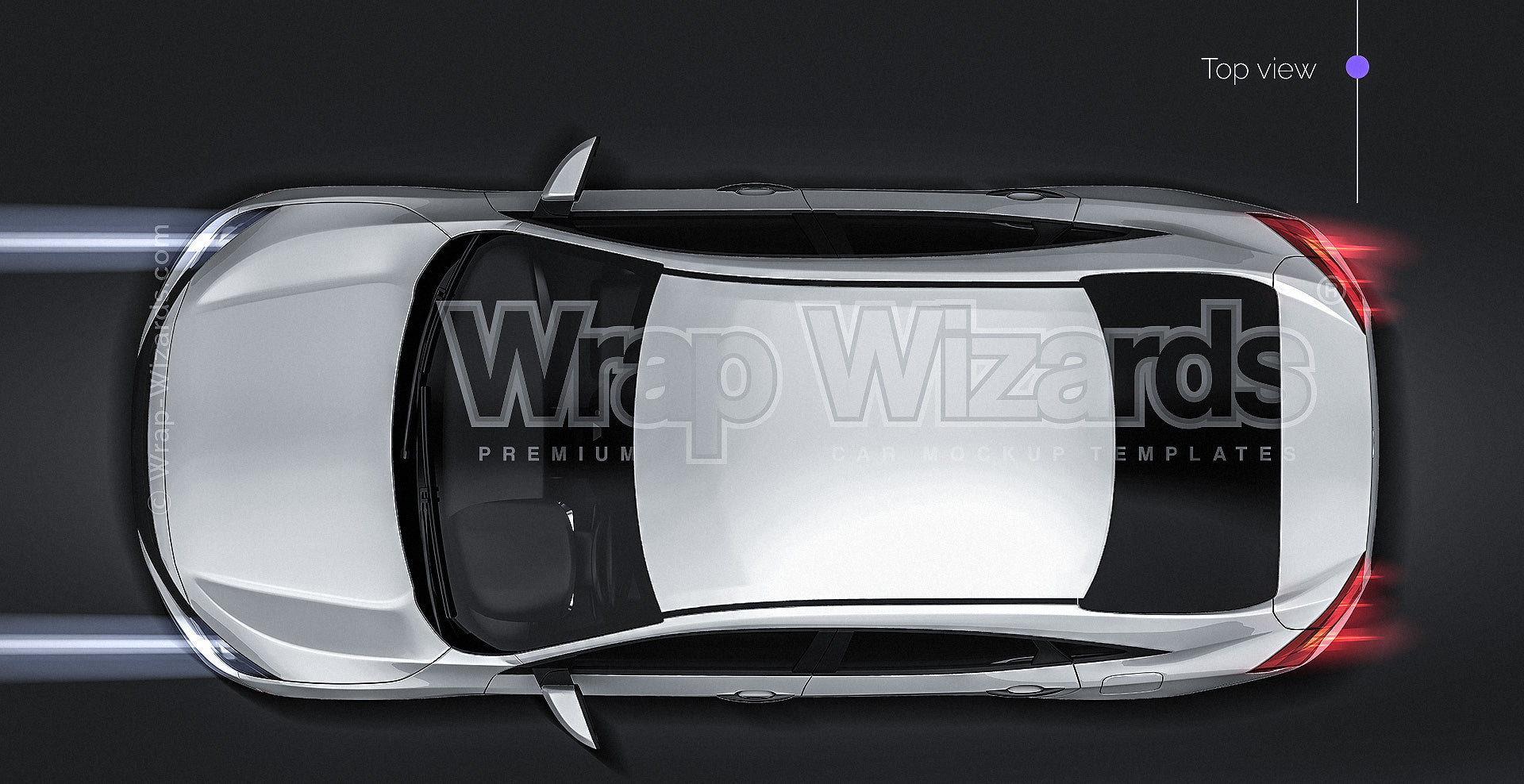 Honda Civic Sedan LX 2016 glossy finish - all sides Car Mockup Template.psd