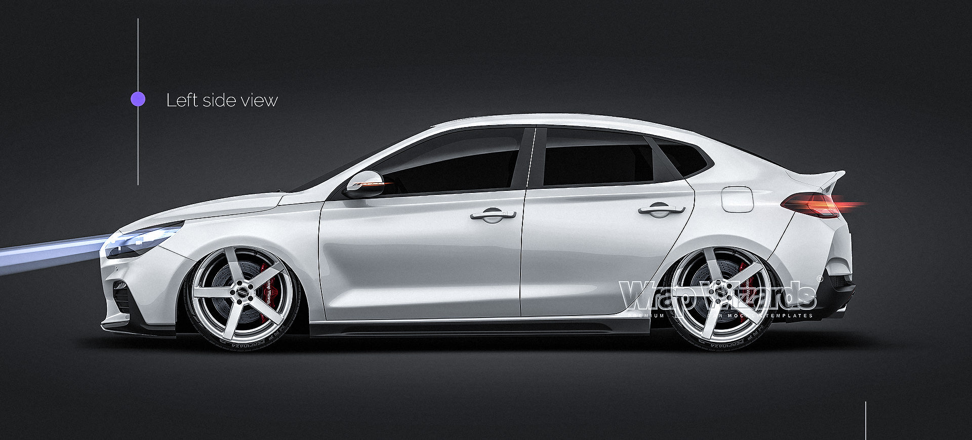 Hyundai I30 N-Line Fastback 2019 all sides Car Mockup Template.psd