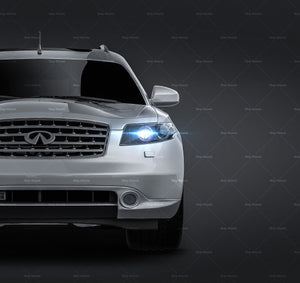 Infiniti FX35 S50 all sides Car Mockup Template.psd