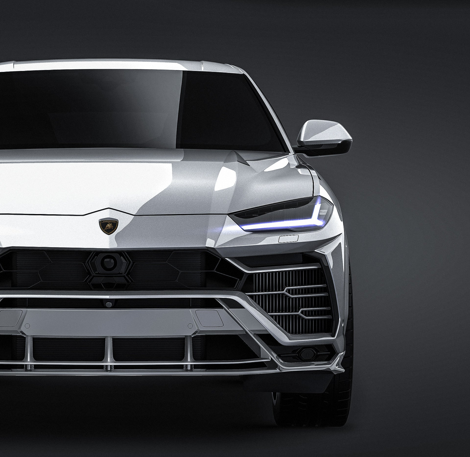 Lamborghini Urus 2019  all sides Car Mockup Template.psd