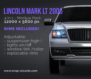 Lincoln Mark LT 2005 all sides Car Mockup Template.psd