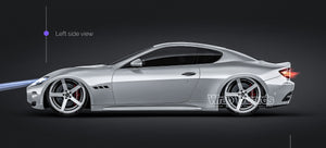 Maserati GT 2007 all sides Car Mockup Template.psd