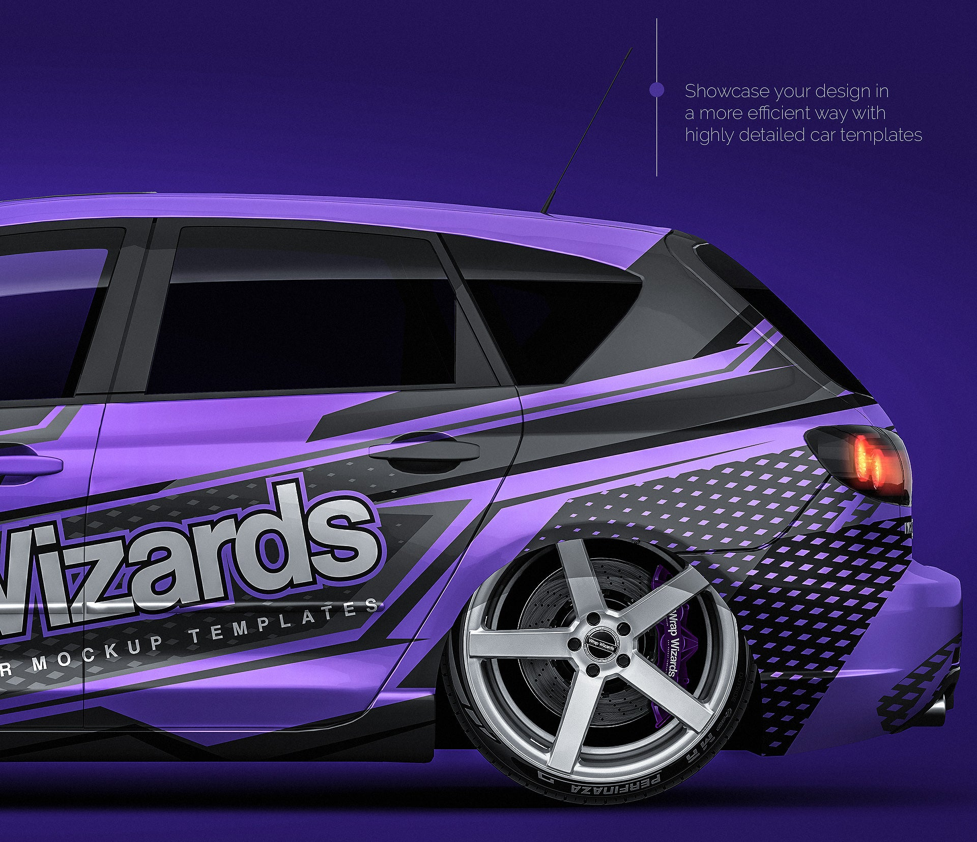 Mazda 3 2007 - all sides Car Mockup Template.psd