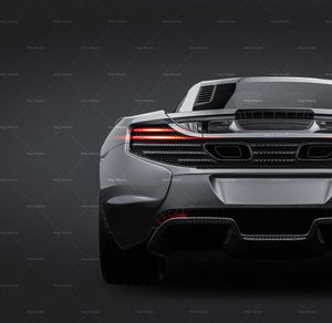 McLaren 650S Coupe 2015 all sides Car Mockup Template.psd