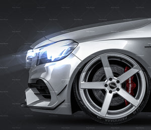 Mercedes-Benz A-Class A45 AMG 2017 glossy finish - all sides Car Mockup Template.psd
