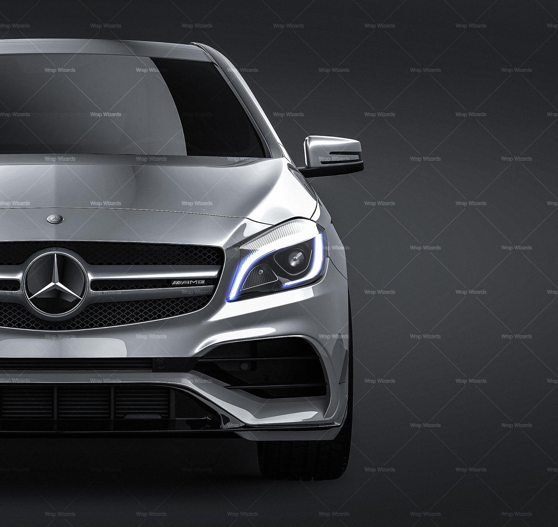 Mercedes-Benz A45 AMG 2017 - all sides Car Mockup Template.psd