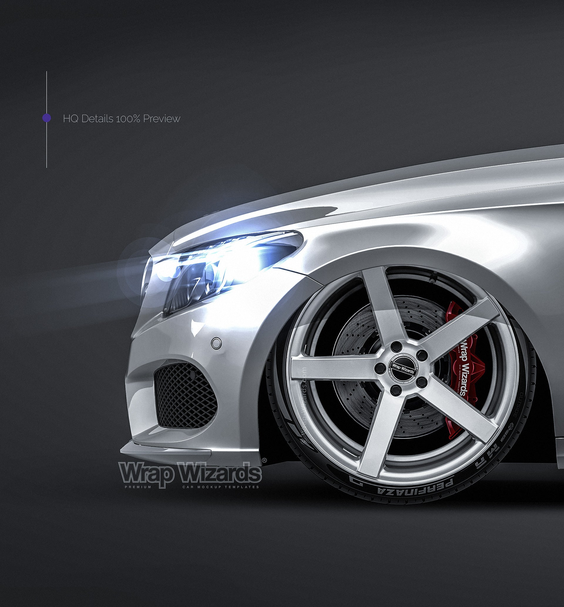 Mercedes Benz C-class Coupe 2017 - all sides Car Mockup Template.psd