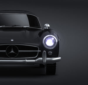Mercedes-Benz 300 SL Gullwing 1954 glossy finish - all sides Car Mockup Template.psd
