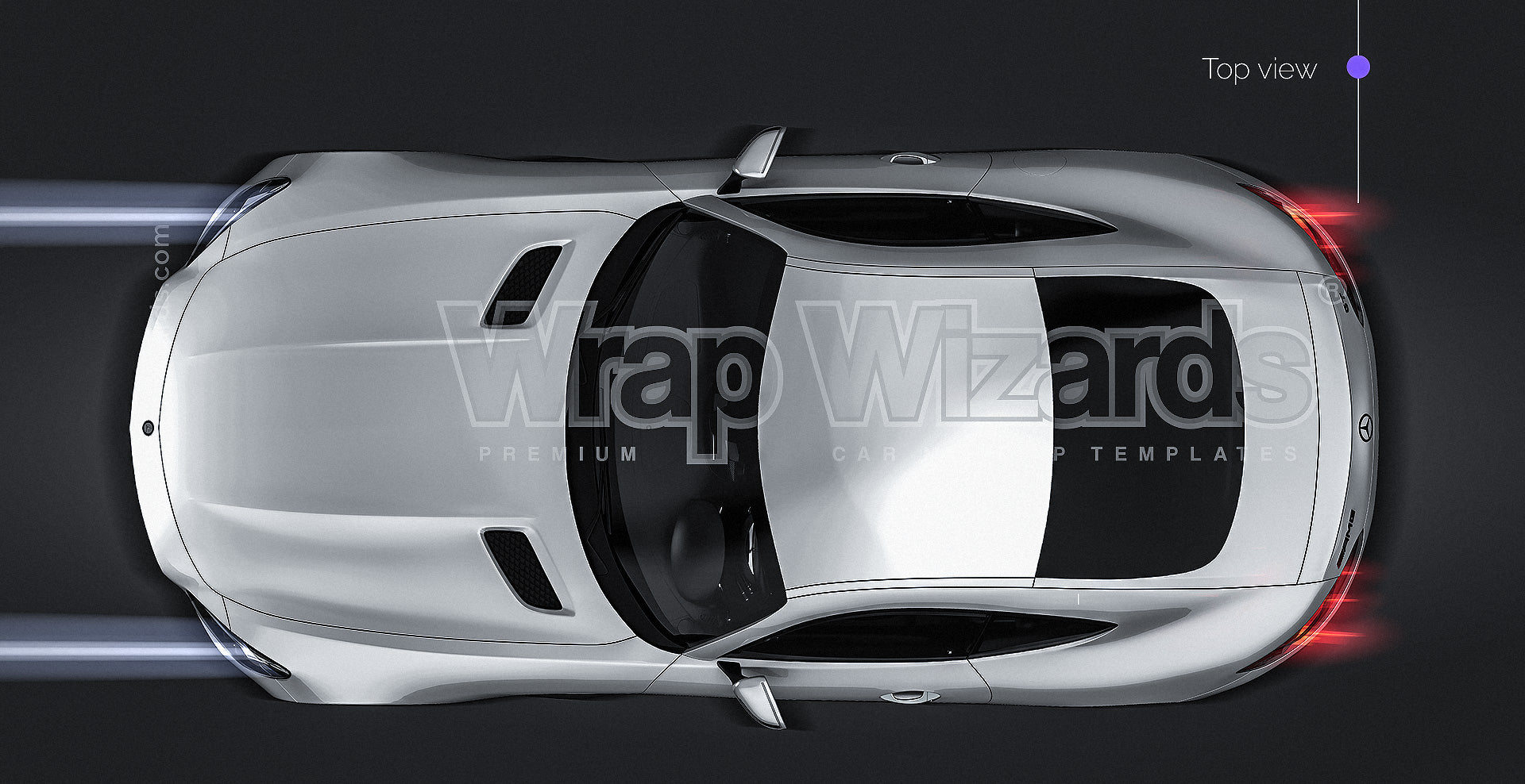 Mercedes-Benz AMG GT 2016 all sides Car Mockup Template.psd