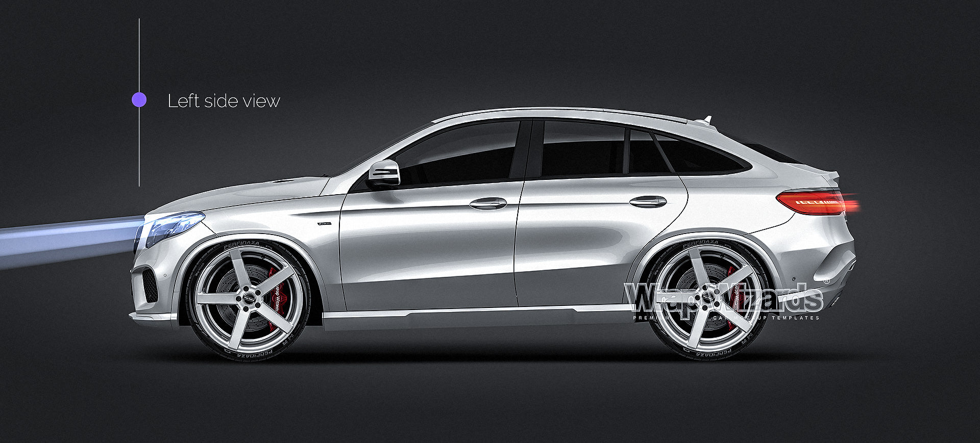 Mercedes-Benz  GLE AMG Coupe 2018 - all sides Car Mockup Template.psd