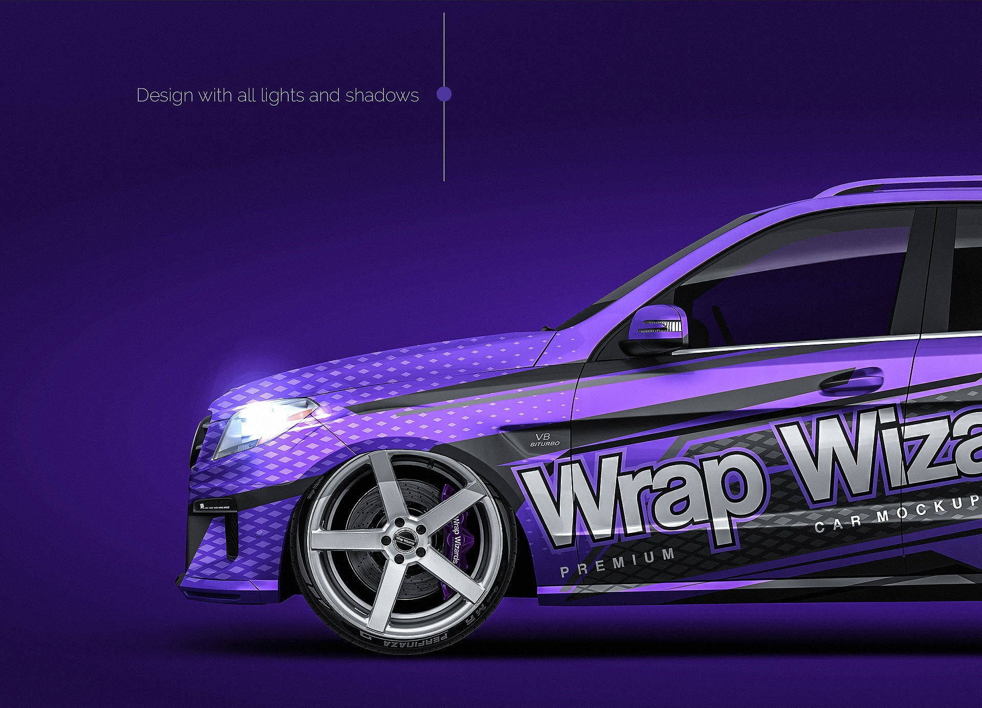 Mercedes-Benz ML W166 AMG 2012 glossy finish - all sides Car Mockup Template.psd